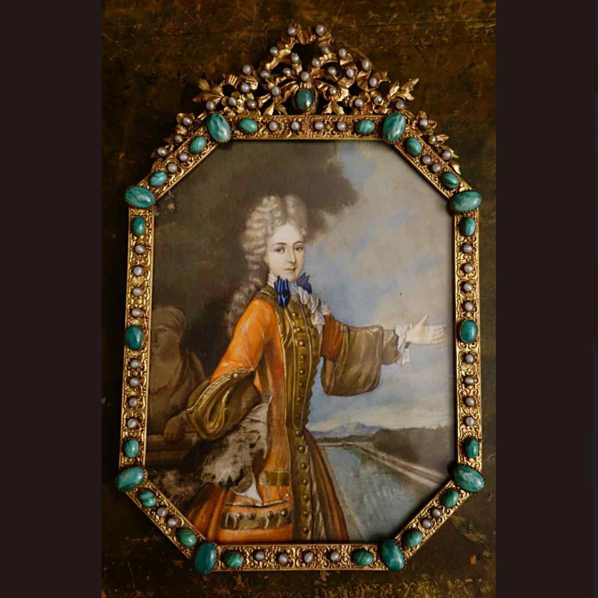 Grande Miniature XVIIIè de Mademoiselle AdelaÏde de Savoie