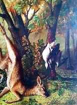 Hunting Table, Trophy, XIXth. Delbeke (240cm X 215cm)-1