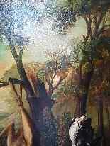 Hunting Table, Trophy, XIXth. Delbeke (240cm X 215cm)-3