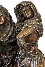Gruppo di personaggi eleganti in bronzo, A Pandiani, XIX-12