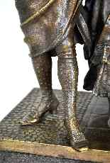 Gruppo di personaggi eleganti in bronzo, A Pandiani, XIX-14