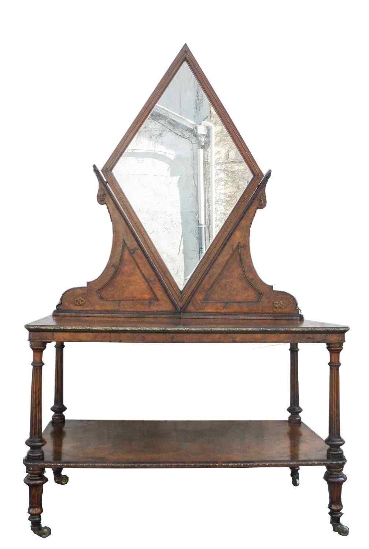 Toletta centro inglese, XIX secolo