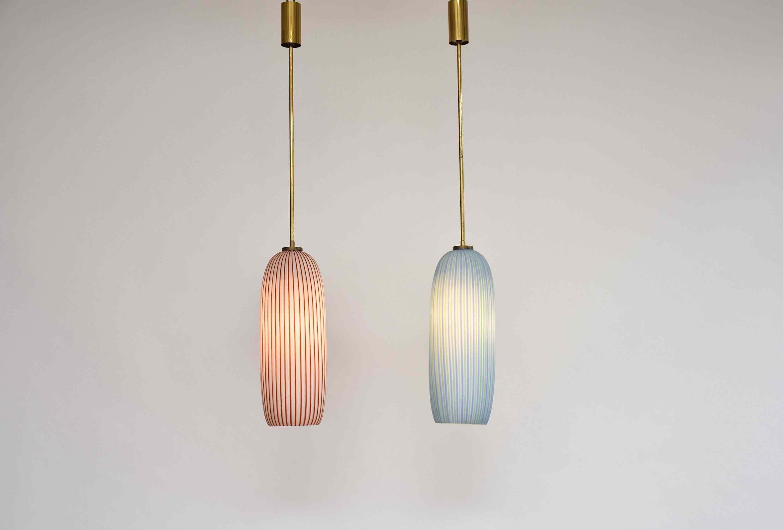 Una bella coppia di 2 lampade di metà secolo di Vistosi
