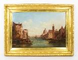 Coppia antica Dipinti ad olio Venezia Alfred Pollentine XIX -1