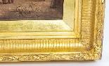 Coppia antica Dipinti ad olio Venezia Alfred Pollentine XIX -18