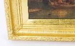 Coppia antica Dipinti ad olio Venezia Alfred Pollentine XIX -7
