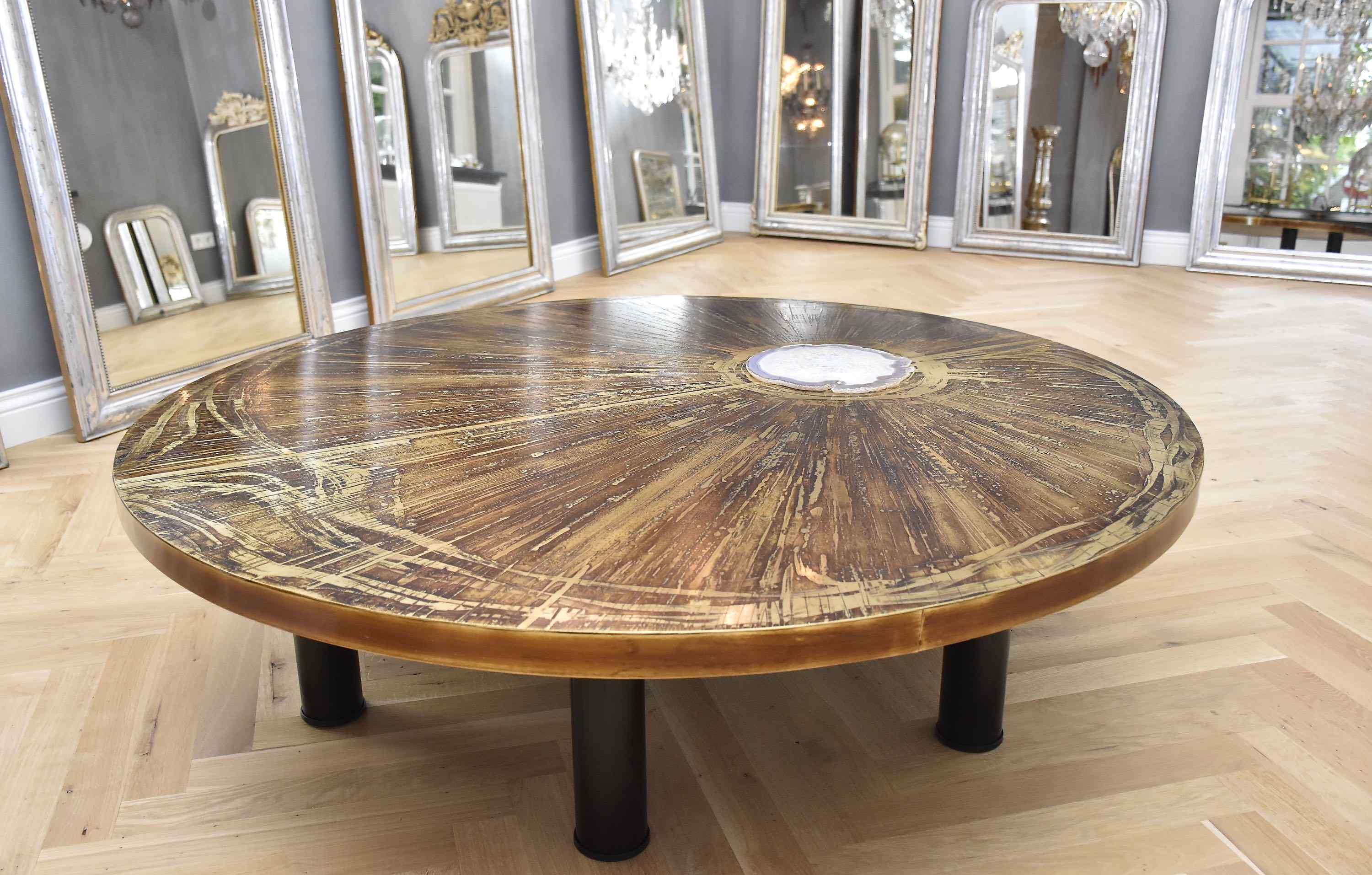 An exceptional and unique coffee table by Marc D'Haenens