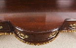 Antique Pair Mahogany and Gilt Serving Tables 19th Century-7