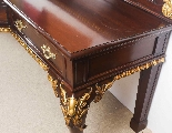 Antique Pair Mahogany and Gilt Serving Tables 19th Century-17