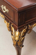 Antique Pair Mahogany and Gilt Serving Tables 19th Century-18