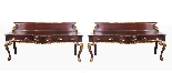Antique Pair Mahogany and Gilt Serving Tables 19th Century-1