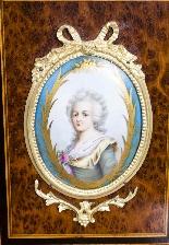 Antico vittoriano Amboyna Inlaid Bonheur Du Jour c.1860-12