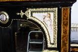 Antico vittoriano Amboyna Inlaid Bonheur Du Jour c.1860-10