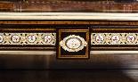 Antico vittoriano Amboyna Inlaid Bonheur Du Jour c.1860-8
