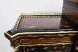 Antico vittoriano Amboyna Inlaid Bonheur Du Jour c.1860-4