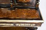 Antico vittoriano Amboyna Inlaid Bonheur Du Jour c.1860-6