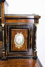 Antico vittoriano Amboyna Inlaid Bonheur Du Jour c.1860-5