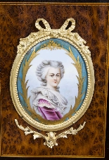 Antico vittoriano Amboyna Inlaid Bonheur Du Jour c.1860-13