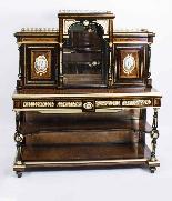 Antico vittoriano Amboyna Inlaid Bonheur Du Jour c.1860-1