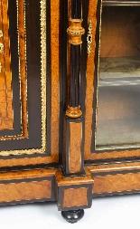 Credenza Ancienne Victorienne En Noyer Sur Plaques De Sevres-14