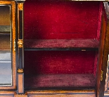 Credenza Ancienne Victorienne En Noyer Sur Plaques De Sevres-17