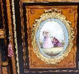 Credenza Ancienne Victorienne En Noyer Sur Plaques De Sevres-10