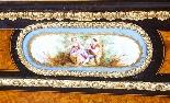 Credenza Ancienne Victorienne En Noyer Sur Plaques De Sevres-8