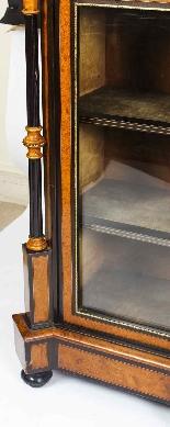 Credenza Ancienne Victorienne En Noyer Sur Plaques De Sevres-13