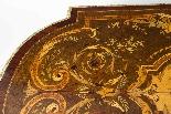Antico ufficio di intarsio a montatura in bronzo dorato orig-6
