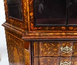 Antique Dutch Marquetry Walnut Display Cabinet Vitrine 19thC-7