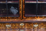 Antique Dutch Marquetry Walnut Display Cabinet Vitrine 19thC-5