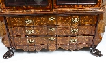 Antique Dutch Marquetry Walnut Display Cabinet Vitrine 19thC-4