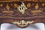 Antique Rococo Revival Marquetry Secretaire a Abattant C1850-10