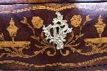 Antique Rococo Revival Marquetry Secretaire a Abattant C1850-8