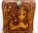 Antique Rococo Revival Marquetry Secretaire a Abattant C1850-4