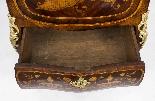 Antique Rococo Revival Marquetry Secretaire a Abattant C1850-22