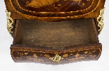 Antique Rococo Revival Marquetry Secretaire a Abattant C1850-21