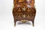 Antique Rococo Revival Marquetry Secretaire a Abattant C1850-7