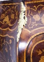 Antique Rococo Revival Marquetry Secretaire a Abattant C1850-3