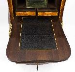 Antique Rococo Revival Marquetry Secretaire a Abattant C1850-14