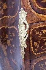 Antique Rococo Revival Marquetry Secretaire a Abattant C1850-11