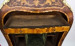 Antique Rococo Revival Marquetry Secretaire a Abattant C1850-15