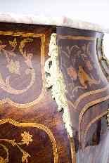 Antique Rococo Revival Marquetry Secretaire a Abattant C1850-25