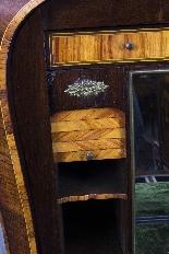 Antique Rococo Revival Marquetry Secretaire a Abattant C1850-18