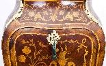 Antique Rococo Revival Marquetry Secretaire a Abattant C1850-2