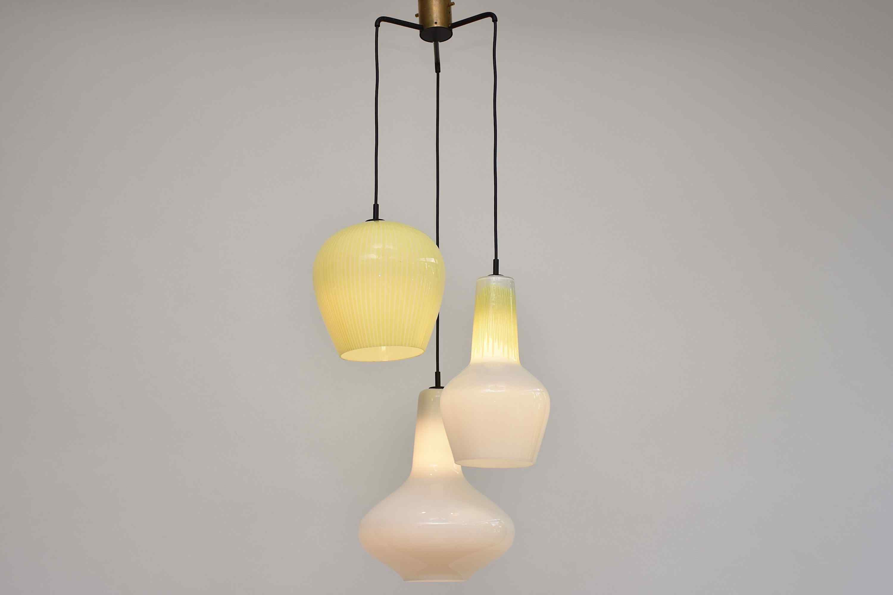 Mid-century chandelier by Massimo Vignelli