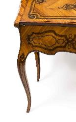 Antico francese Bonheur du Jour Kingwood & Marquetry c.1850-13