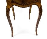 Antico francese Bonheur du Jour Kingwood & Marquetry c.1850-26