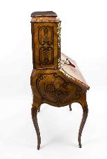 Antico francese Bonheur du Jour Kingwood & Marquetry c.1850-21