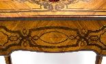 Antico francese Bonheur du Jour Kingwood & Marquetry c.1850-12